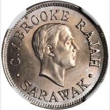 1927 H Sarawak 5 Cents, NGC MS 65+, Superb, Malaysia