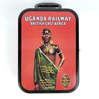 Uganda Railway British East Africa Collectible Metal Tin Case Lunchbox 2000 Rare
