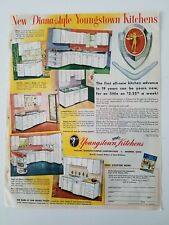 1954 retro Youngstown White kitchen steel cabinets Diana Style vintage ad