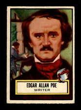 1952 Topps Look n See #79 Edgar Allen Poe  EX+ X1645243