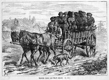 Polen, Juden, Fahrt zum Markt Original-Holzstich von ca. 1880