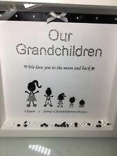 ☆☆Personalised Our Grandchildren Box Frame Perfect Christmas gift nan Grandad  ☆