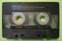 MC Musicassetta RAKS SD SX 46 vintage compact cassette tape USATA no basf agfa