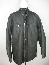Next men's Jacket Black Motor Cycle Zip Up Modern Jacket Acetate