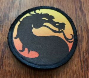 Mortal Kombat Logo Morale Patch Military Tactical Army Funny Flag USA Badge