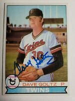 1979 Topps Dave Goltz Auto Autograph Card Twins Signed #27