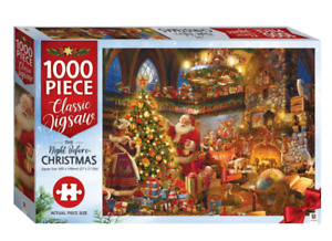 The Night Before Christmas 1000pc Jigsaw by Hinkler - New