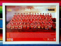 ✺Framed✺ 2020 GOLD COAST SUNS AFL Poster - 62cm x 44.5cm x 3cm