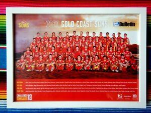 ✺Framed✺ 2020 GOLD COAST SUNS AFL Poster - 45cm x 32cm x 3cm