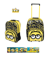 Official Minions Despicable Me 3 Trolley Suitcase Boys Kids Travel Bag Holiday