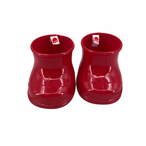 Build A Bear Workshop Red Rubber Boots Shoes Red Paw Print 2014 BABW