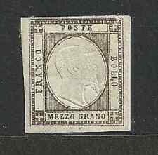 Napoli 1861 Province - 1/2 gr. bistro bruno - Sassone 18 - Firmato - MH - ASI052