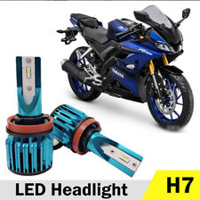 H7 LED Headlight Bulb For Yamaha YZF-R6 2003-15 YZF-R1 2006-16 6000K 6000LM 40W
