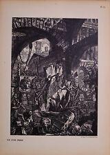 Antiguo Piranesi imaginario prisiones impresión Carceri d 'invenzi más de 100 años de edad