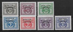 Ruanda-Urundi - Postage Due - 1959 - COB TX20/6** - MNH -