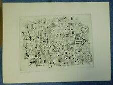 3 K A Carlson Abstract Modern Art Etchings Signed Numbered Vintage Originals