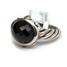 New DAVID YURMAN Silver & Black Onyx, Hematite Oval Renaissance Ring 7.25 NWT