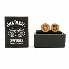 Jack Daniels Whisky Oak Barrels Cufflinks Limited Edition Boxed Gift