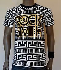 ROCKSMITH Block Hip Hop T-Shirt Crew Neck 100% Cotton