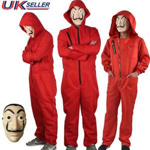 Salvador Dali La Casa De Papel Costume Money Heist Jumpsuit Outfits Mask Cosplay