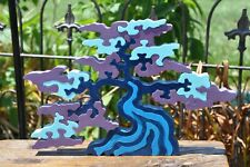 Survivor Challenge Blue Shade Tree Wood Puzzle Toy Made in the Usa Art