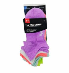 Under Armour Womens No Show Socks Ankle Cool Comfort Low Cut 6 Pack Sports Youth