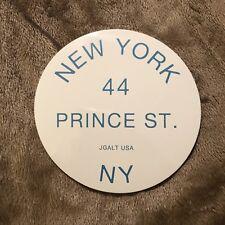 NEW YORK 44 PRINCE ST. NY BLUE CIRCLE BRANDY MELVILLE STICKER