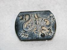 Qing Dynasty Deep Imperial Jade Dragon Belt Ornament