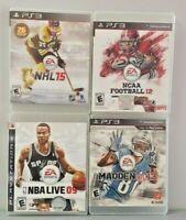 MADDEN 13 NHL HOCKEY 15 NBA 08 NCAA 12 PlayStation 3 Ps3 SPORTS Game LOT Works