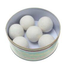 1pc in Tessuto Naturale Lana Vergine Asciugatrice PALLINE Riutilizzabile ANTICALCARE bucato bianco