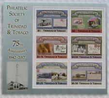 Trinidad & Tobago Philatelic Society 75th Anniversary Miniature Sheet