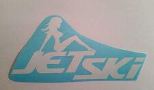 JETSKI lady decal JET SKI BOAT trailer yamaha polaris seadoo seat bumper STICKER