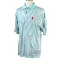 Peter Millar Men's Victoria National GC Blue Green Golf Polo Shirt NWOT Large