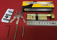 YALE anti-snap Thumb THUN euro CILINDRO 40s-40 PB (80mm) IN OTTONE