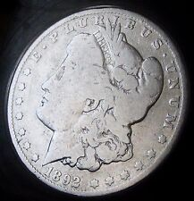 1892 MORGAN DOLLAR- BETTER DATE MORGAN - FAST SHIPPING - FAST COIN DELIVERY!