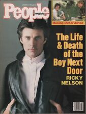People Weekly January 20 1986 Ricky Nelson, Robert Redford VG 012816DBE