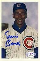 Ernie Banks Psa Dna Coa Hand Signed 4x6 Photo Autograph