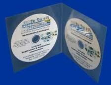 50 Professional Double CD DVD Plastic Wallets / Sleeves with Smooth Edge NEW HQ
