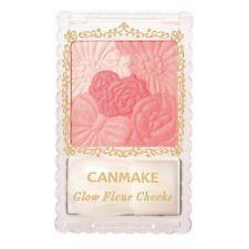 CANMAKE 04 Strawberry Glow Fleur Cheeks Blush Powder with Brush