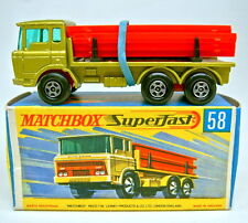 "Matchbox SF nº 58a DAF Girder Truck metalizado verde Top en ""H"" box"