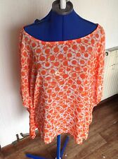 MK MICHAEL KORS GENUINE Orange shirt top blouse- size XL Brand New with Tags,
