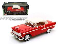 MOTORMAX 1:18 1955 CHEVROLET BEL AIR SOFT TOP CONVERTIBLE  DIE-CAST RED  73184