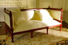 Dollhouse Fabric Seating & Pillows 1/12 Furniture Elegant White High Quality