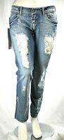 Jeans Donna Pantaloni MET Made in Italy Gamba Dritta Blu C440 Tg 29