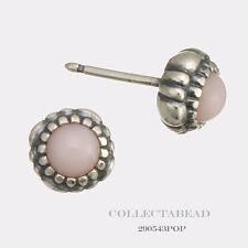Authentic Pandora Silver Pink Opal October Birthstone Stud Earrings 290543POP