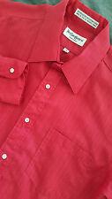 YVES SAINT LAURENT YSL Men's Long Sleeve Red Dress Shirt Size 15 MADE IN USA