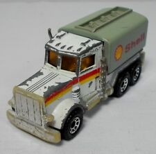 MATCHBOX VTG 1981 1/80 3'' PETERBILT PETROL GAS SHELL TRUCK DIE-CAST TOY CAR