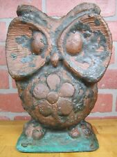 Orig Big Eye OWL Industrial Toy Metal Making Mold Rare HTF Decorative Art Statue