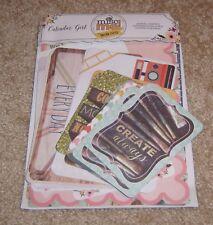 Bo Bunny Misc Me Journal Contents ~ Calendar Girl Collection