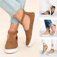 Ladies Closed Toe Flat Sandals Summer Women Shoes Footwear Breathable Plus Size
